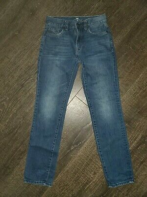 7 For All Mankind the Straight Light Wash Cotton Jeans Boys Size 10