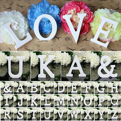 Large 26 Wooden Wood Alphabet Letters Wall Hanging Wedding Party Nursery Decor