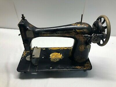 Rare Authentic Singer Sewing Machine 1900's Vintage Antique. belt driven