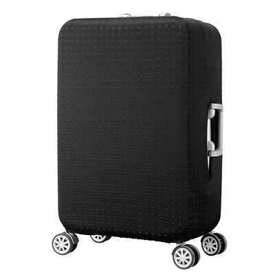 Spandex Travel Luggage Cover Protect Dust-proof Anti-Scratch Suitcase Case Black