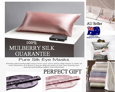 Deluxe 100% Mulberry Silk Pillowcase both sides 25 momme QUEEN SIZE PILLOW CASE