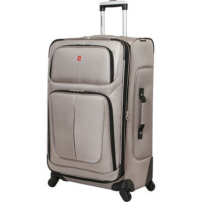 "SwissGear Travel Gear 6283 29"" Spinner Luggage 6 Colors Softside Checked NEW"