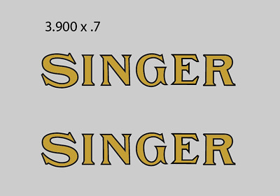 Industrial Singer Sewing Machine Restoration Decals 41254