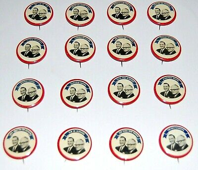 1964 BARRY GOLDWATER FOREIGN BUTTON FULL SET 16 campaign pin pinback political
