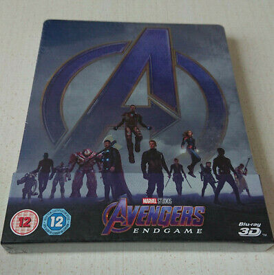 AVENGERS ENDGAME ~ 3D STEELBOOK (Includes 2D Blu-ray) BRAND NEW SEALED ~ MARVEL