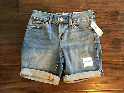 Old Navy Girls Denim Jean Shorts Size 8 Mid Length **Nwt**