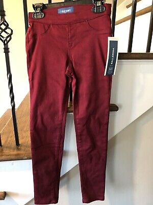OLD NAVY Girls Maroon Ballerina Jeggings Size 8 **NWT**