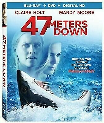 47 Meters Down (Blu-ray+DVD+Digital, 2017 2-Disc Set) NEW - SEALED-FREE SHIPPING