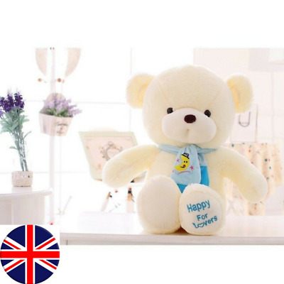 Valentine's Day Teddy Bear With Scarf Plush Stuffed  30cm UK STORE