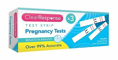 3x Pregnancy Test Strips Early Family Planning Detection Ovulation Testing Kit