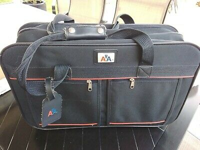Genuine American Airlines AA Black Flight Travel Carry-On Bag Luggage
