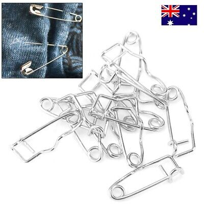 50Pcs pack Small Tiny Safety Pins 32mm Metal Sewing Craft Mini Pins Tool - AU