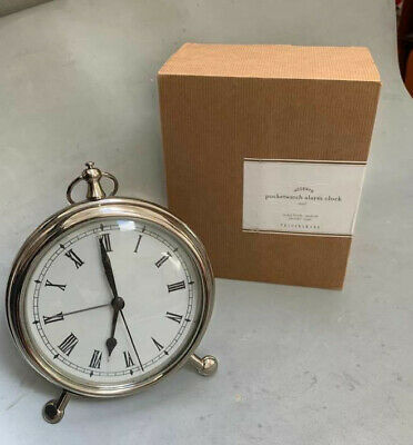 New Pottery Barn Pocket Watch Clock Nickle Brand new in box