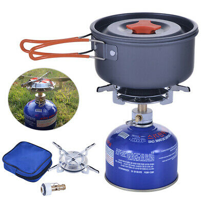 Mini Outdoor Portable Stove Compact Camping Hiking Fishing Gas Heater Cooker