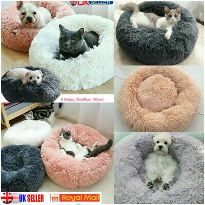 Comfy Soft Calming Dog/Cat Bed Round Super Plush Marshmallow Pet Bed Cat Bed UK