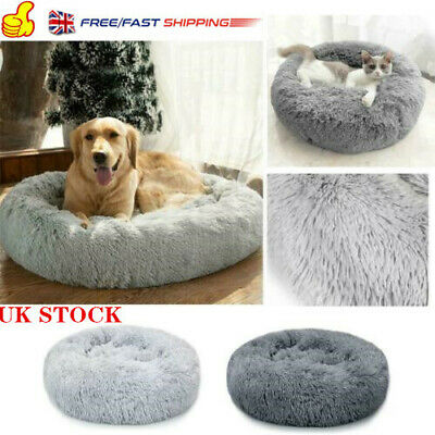 Large Dog Calming Bed Pet Cat Plush Beds Mat Comfy Puppy Washable Fluffy Cushion