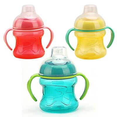 Baby Suction Feeding Bottles Cups Water Milk Bottle Training With Handle Cups