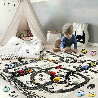 Kids City Road Play Mat Children Car Road Carpet Rug Education Game Toy Gift AU