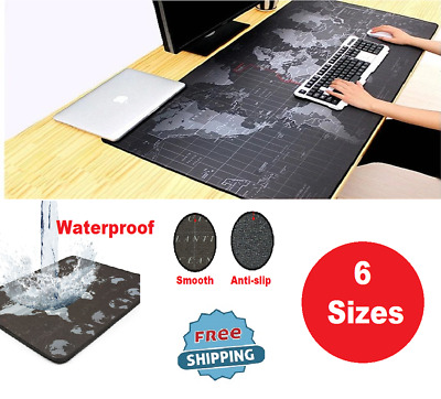 6 Size Computer Gaming Mouse Pad World Map Waterproof Laptop Mousepad NON - SLIP