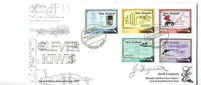 New Zealand 2007 Clever Kiwis Limited Edition Signed Fdc