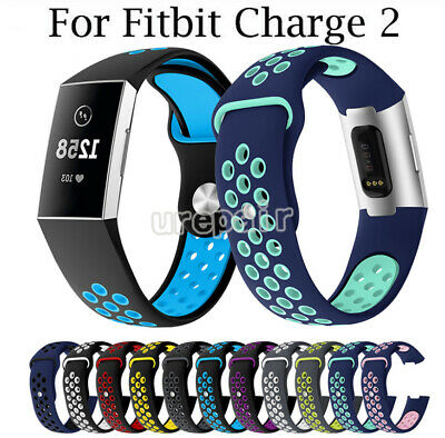 For Fitbit Charge 2 Strap Wrist Band Spare Wristband Replacement Soft Silicone