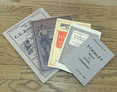 5 Assorted Reprinted Tool Catalog Lot-Stanley-Jennings-United-Walter-New Britain