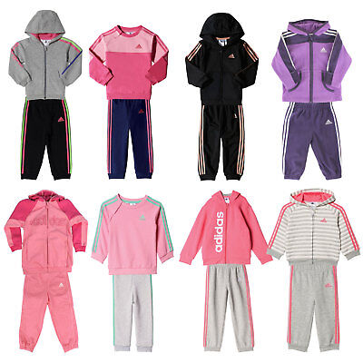 Adidas Performance Baby Jogger Children's Track Suit Girl's Tracksuit Set