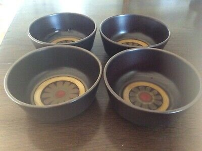 4 x DENBY ARABESQUE Soup / Cereal BOWLS * 5.25 inches in Diameter * VGC