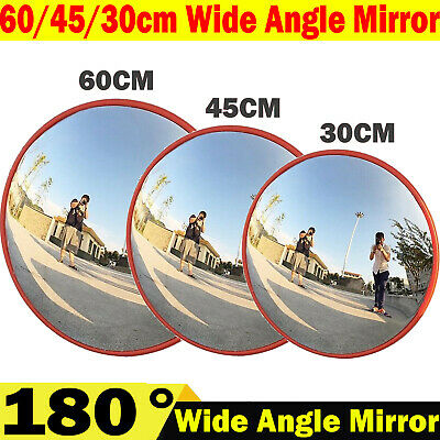 Security Mirror Convex Traffic Road Safety Driveway 180° Wide Angle View Outdoor