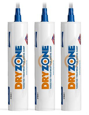 Dryzone 310ml x 3 Damp Proofing DPC Injection Cream - Rising Damp Treatment