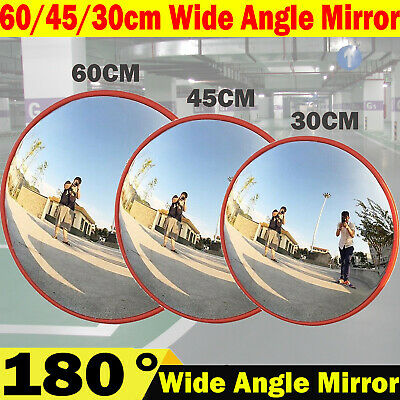 60CM Wide Angle Traffic Mirror Security Curved Convex Road Driveway Blind Spot