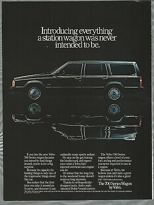 1990 Volvo 740 Wagon Classic Vintage Advertisement Ad D92 van compare