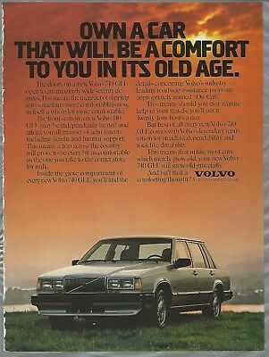 Classic Vintage Advertisement Ad D97 1989 Volvo 740 GLE Arrival