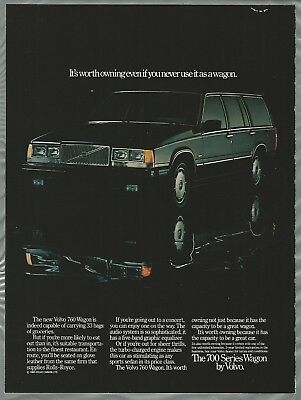 1986 Volvo 700 760 GLE Series Classic Vintage Advertisement Ad D142 Driver