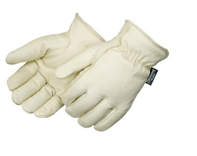 Soft Pigskin Winter Insulated Lined Leather Work Driver Gloves #84730 Size Large