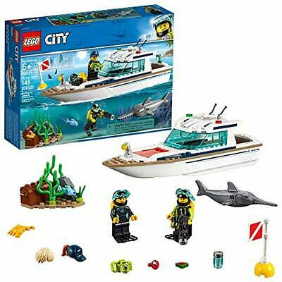 LEGO City Great Vehicles Diving Yacht 60221 Building Kit, 2019 (148 Pieces)