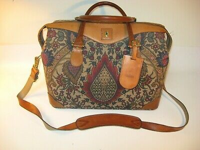Vintage Hartmann Flame Tapestry Paisley Carry On Bag Luggage