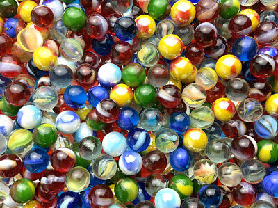 Glass Pee Wee 12mm Marbles (set of 50) Reds Cat eyes from Bulk Assorted Lot