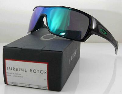 Oakley Sunglasses Turbine Rotor Black Ink Frame Jade Iridium Lens New Low Stock