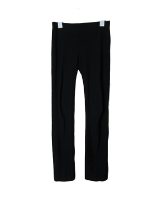 Eileen Fisher black pull on pants viscose blend women's size X-small stretchy