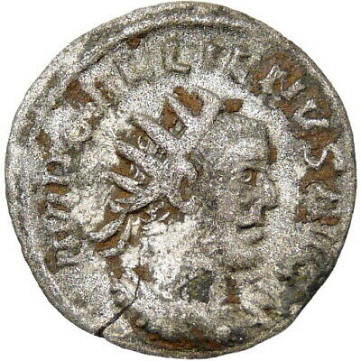 GALLIENUS Ancient Roman Empire Silver Antoninianus Coin Scarce Antioch mint