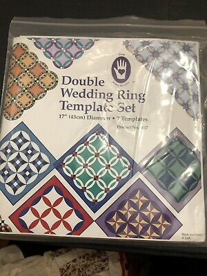 Marti Michell Double Wedding Ring Template Set Sealed Package