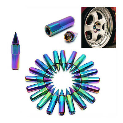 20x Spiked Aluminium Alloy Fit For Car SUV Wheel Hub Nuts Tire Screw Lugs