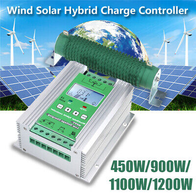 LCD Charge Controller Hybrid MPPT Wind Powered PWM Photovoltaic Solar 12V/24V
