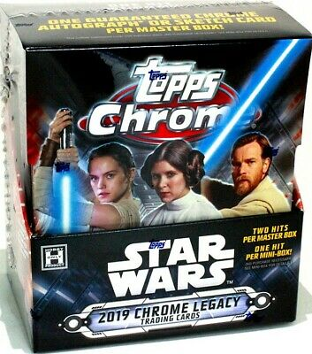 2019 Topps Star Wars Chrome Legacy Hobby 8 Box Case Blowout Cards