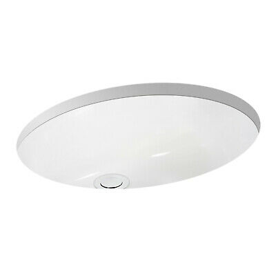 """Miseno MNO1714OU White 19-1/2"""" Oval Undermount Bathroom Sink With Front Overflow"""