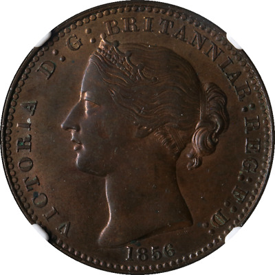 1856 1 Cent Nova Scotia With L.C.W. NS-6A1 NGC MS62BN Decent Eye Appeal