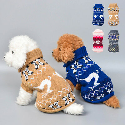 Pet Cat Dog Knitted Jumper Sweater Coat Jacket Puppy Vest Clothes Fall Warm Tank