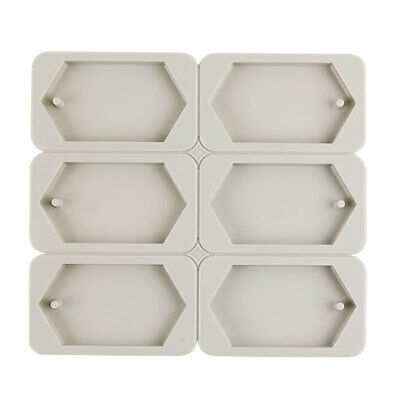 3695 6-Cavity Rectangle Soap Mold Mould Tray for Homemade Making Multi Color