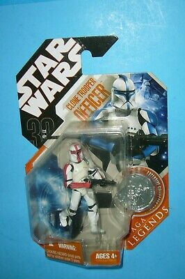 Clone Trooper Officer (Red) STAR WARS 30th Anniversary Saga Legends VARIANT